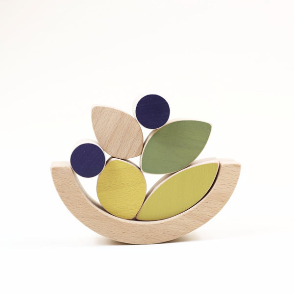 Leaves & blueberries stacking and balance toy
