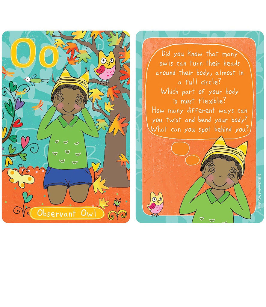 Enchanted Woods A-Z Yoga Cards