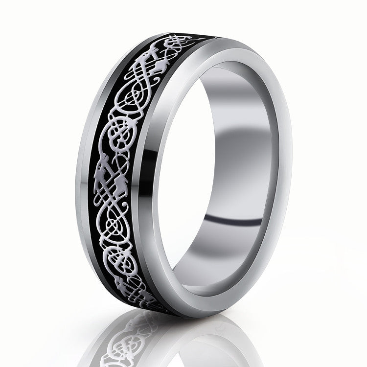 vintage engagement dragon tungsten steel ring for men women lord wedding rings band new punk - Men And Women Wedding Rings