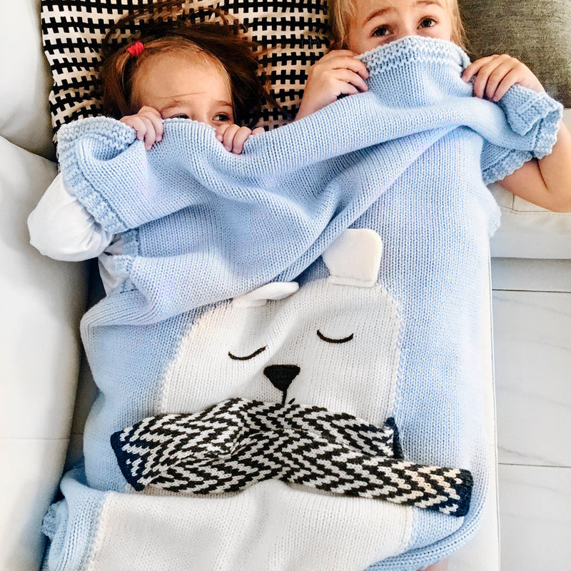Bear Blanket (Blue)