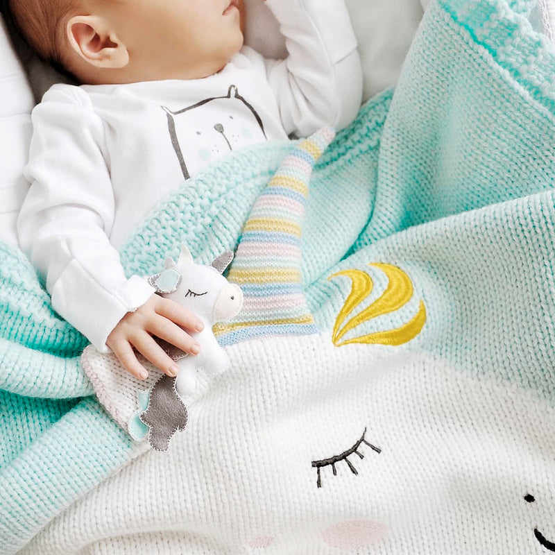 Unicorn Blanket (Mint)