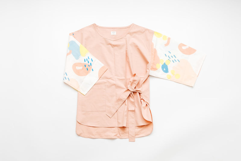 Twinning Abstract Printed Dress - pink (kid)