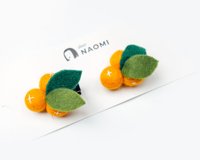 Mandarin Orange Hairpins Set