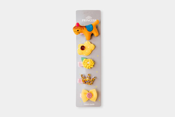 Yellow Pony Hair Pins