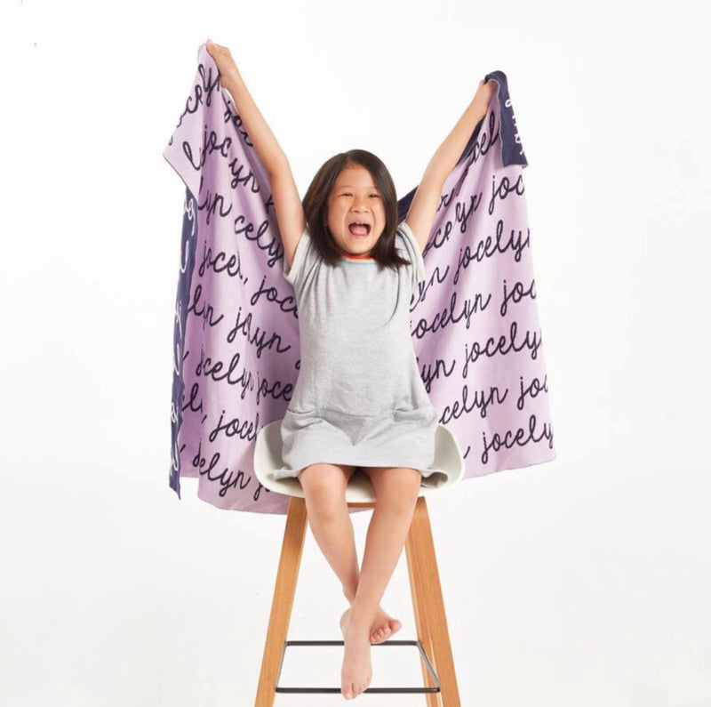 Personalized Blanket (Light Purple Background)