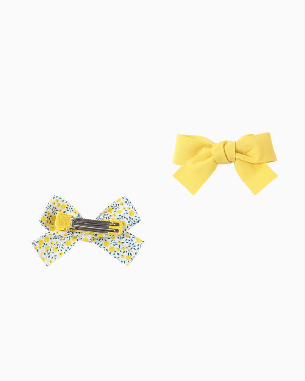 Ribbon Hair Clips (Yellow)