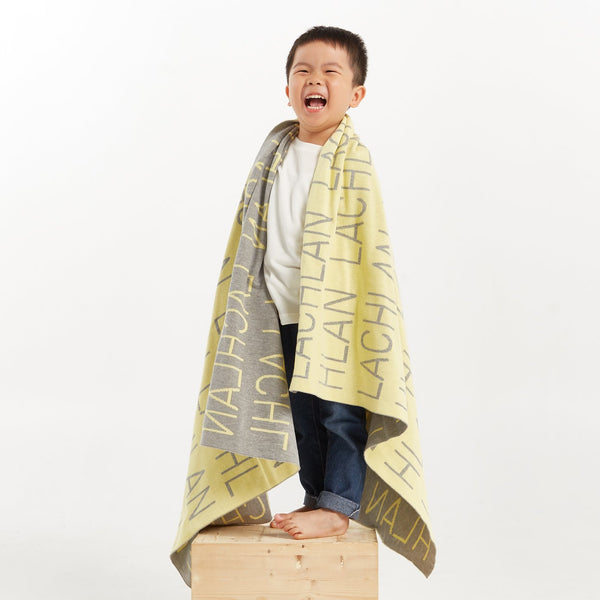 Personalized Blanket (Light Yellow Background)