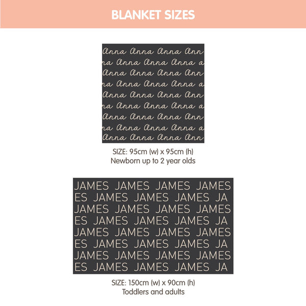Personalized Blanket (Peach Background)