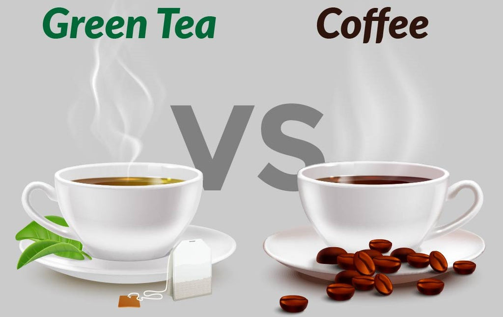 I Have More Caffeine Content - Coffee vs Green Tea