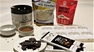 Healthy, Low Calorie Heart-Shaped Collagen Protein Hot Chocolate Bombs 💣