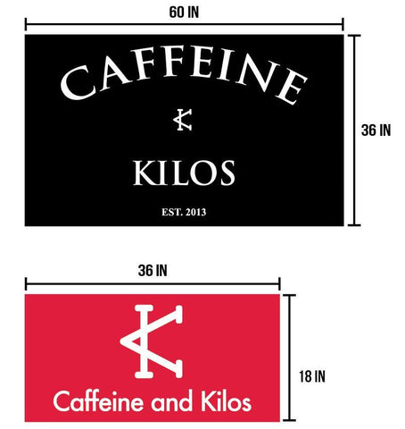 Caffeine and Kilos Inc Accessories Gym Black GYM BANNERS (2 OPTIONS)