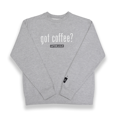Caffeine and Kilos Inc apparel 4XL / Grey Got Coffee? Crewneck (2 options)