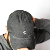 Caffeine and Kilos Inc apparel ACID BLACK ACID WASHED Dad Hat