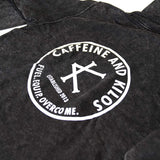 Caffeine and Kilos Inc apparel ACID BLACK SENDERS HOODIE (Black Friday)