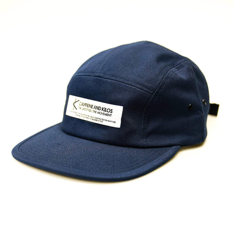Caffeine and Kilos Inc apparel Navy 5 Panel Camper Hat - Navy