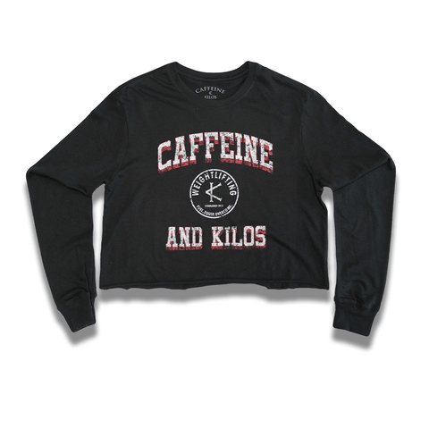 Caffeine and Kilos Inc apparel S Authentic LS Crop Shirt Black