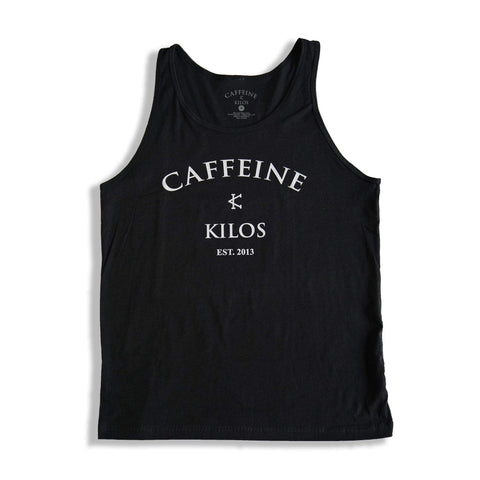 Caffeine and Kilos Inc apparel S Black Arch Logo Mens Tank