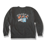 Caffeine and Kilos Inc apparel S Till Death Crewneck