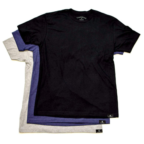 TRI COLOR 3 PACK MENS TEES - Caffeine and Kilos Inc