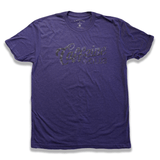 Caffeine and Kilos Inc apparel SNAKE SKIN SCRIPT LOGO T PURPLE