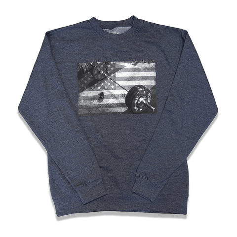 Caffeine and Kilos Inc apparel XS DEDICATED 2.0 CREWNECK NAVY