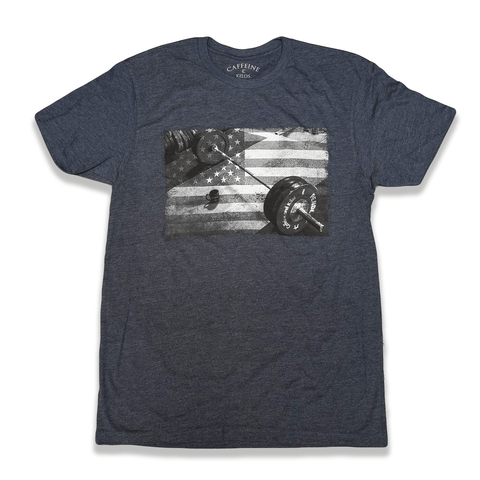 Caffeine and Kilos Inc apparel XS DEDICATED 2.0 MEN'S T NAVY