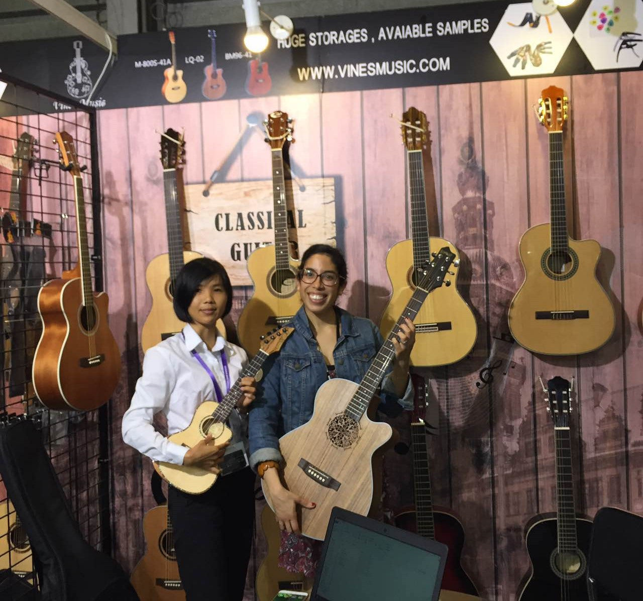 The Shanghai Music Show Vines Music booth