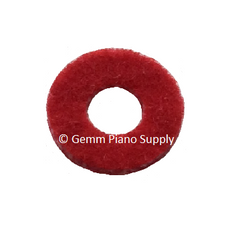 "Piano Hitch Pin Regulating Punchings, Red, Oversize 1/2"" OD"