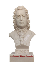 "Authentic Bach Composer Statuette, 5""- 5-1/2"" High"