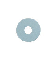 "Piano Front Rail Paper Punchings Blue .010"" Thick x 7/8"" OD"