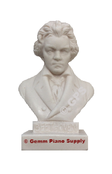"Authentic Beethoven Composer Statuette, 5""- 5-1/2"" High"