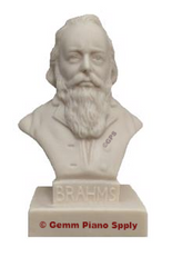 "Authentic Brahms Composer Statuette, 5""- 5-1/2"" High"