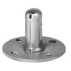 "Piano Caster Socket, Round 2-1/8"" With Lock Notch"