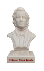 "Authentic Chopin Composer Statuette, 5""- 5-1/2"" High"