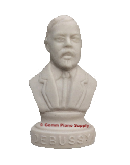 "Authentic Debussy Composer Statuette, 4-1/2"" High"