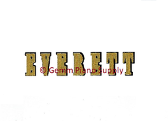 Everett Piano Fallboard Decal