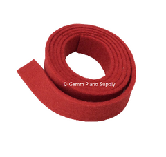 "Piano Spring Rail Felt, Red, 13/16"" Wide"
