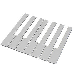 German Piano Keytops without Fronts, 50MM Head, White