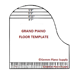Grand Piano Floor Template Gemm Supply