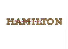 Hamilton Piano Fallboard Decal