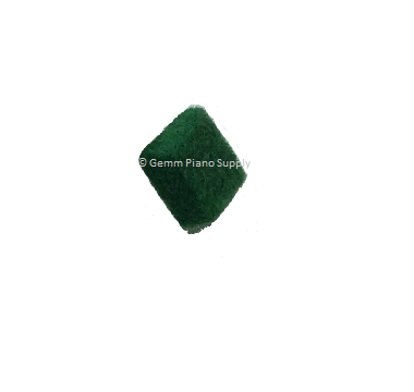Piano Hammer Butt Felt Squares, Green (Thin)