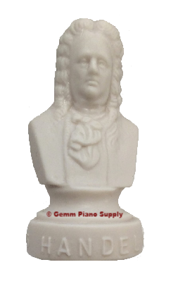 "Authentic Handel Composer Statuette, 4-1/2"" High"
