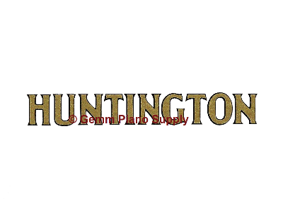 Huntington Piano Fallboard Decal