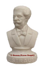"Authentic J. Strauss Composer Statuette, 4-1/2"" High"