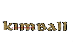 Kimball Piano Fallboard Decal