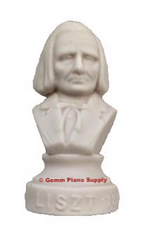 "Authentic Liszt Composer Statuette, 4-1/2"" High"