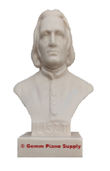 "Authentic Liszt Composer Statuette, 5""- 5-1/2"" High"