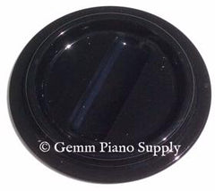 Lucite Piano Caster Cup, Black