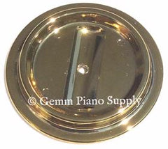 Lucite Piano Caster Cups, Brass Finish Set of 3