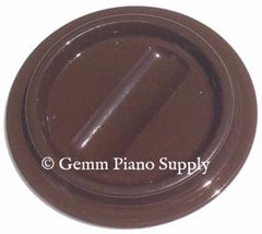 Lucite Piano Caster Cups, Brown Set of 3